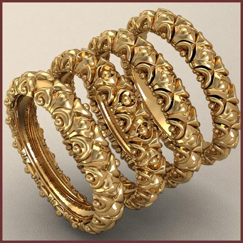 Дизайны золотых колец